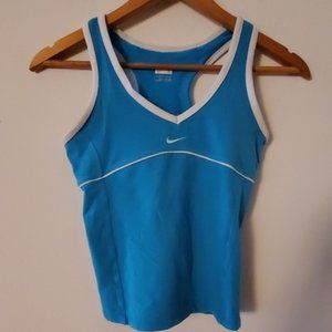 Nike Fit Dry Blue/White Tank Top S